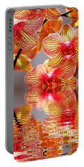 Sweet Orchid Reflection Portable Battery Charger by Judy Palkimas