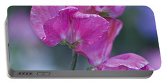 Sweet Pea In Pink Portable Battery Charger