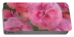 Sweet Pink Roses  Portable Battery Charger by Gabriella Weninger - David