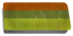 Sweet Potato And Pea Green Portable Battery Charger by Michelle Calkins