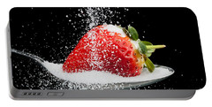 Sweet Strawberry With Sugar Granules Portable Battery Charger