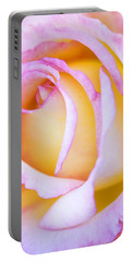 Sweetness In Pink Rose Portable Battery Charger