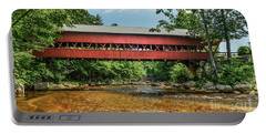 Portable Battery Charger featuring the photograph Swift River Covered Bridge Hew Hampshire by Debbie Green