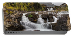 Swiftcurrent Falls In Autumn Portable Battery Charger