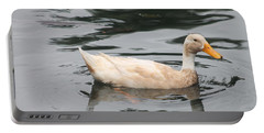 Swimming Duck Portable Battery Charger by Pamela Walton