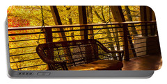 Swinging In Autumn Trees Original Photograph Portable Battery Charger