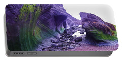 Portable Battery Charger featuring the photograph Swirl Rocks by John Williams