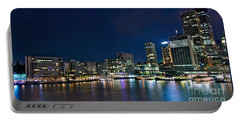 Sydney Cityscape By Night Portable Battery Charger