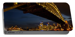 Portable Battery Charger featuring the photograph Sydney Harbour Bridge by Miroslava Jurcik