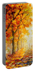 Symbols Of Autumn - Palette Knife Oil Painting On Canvas By Leonid Afremov Portable Battery Charger by Leonid Afremov