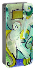 Portable Battery Charger featuring the painting Symphony In Green by Stephen Lucas