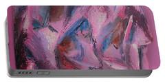 Portable Battery Charger featuring the painting Syncopation 5 by Mini Arora