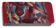 Portable Battery Charger featuring the painting Syncopation by Mini Arora