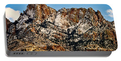 Portable Battery Charger featuring the photograph Table Mountain In Winter 42 by Mark Myhaver