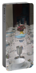Table Set For A Jewish Festive Meal Portable Battery Charger