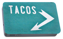 Tacos Portable Battery Charger by Art Block Collections