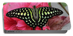 Portable Battery Charger featuring the photograph Tailed Jay Butterfly #6 by Judy Whitton