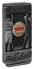 Take Me Out To The Ball Game Portable Battery Charger by Janice Westerberg