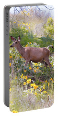 Taking A Stroll In The Country Portable Battery Charger by Athena Mckinzie