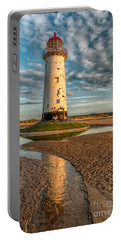 Talacre Lighthouse Sunset Portable Battery Charger