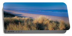 Tall Grass On The Coastline, Saunton Portable Battery Charger
