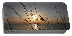 Tall Grass Sunset Portable Battery Charger by Bill Cannon