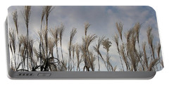 Tall Grasses And Blue Skies Portable Battery Charger