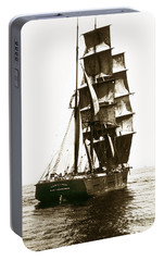 Portable Battery Charger featuring the photograph Tall Ship Germania Out Of San Francisco California  Circa 1900 by California Views Mr Pat Hathaway Archives
