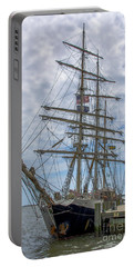 Portable Battery Charger featuring the photograph Tall Ship Gunilla Vertical by Dale Powell