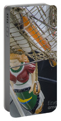 Portable Battery Charger featuring the photograph Tall Ship Gunilla Masthead by Dale Powell