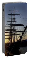 Tall Ship In Ibiza Town Portable Battery Charger