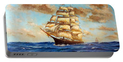 Tall Ship On The South Sea Portable Battery Charger