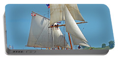 Portable Battery Charger featuring the photograph Tall Ship Pathfinder by Rodney Campbell