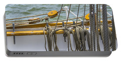 Portable Battery Charger featuring the photograph Tall Ship Rigging by Dale Powell