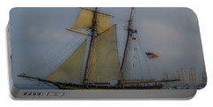 Portable Battery Charger featuring the photograph Tall Ships by Dale Powell