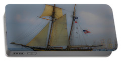 Tall Ships In The Lowcountry Portable Battery Charger by Dale Powell