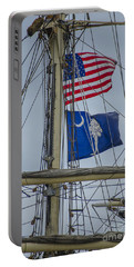 Portable Battery Charger featuring the photograph Tall Ships Flags by Dale Powell