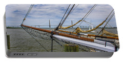 Portable Battery Charger featuring the photograph Tall Ships In Charleston by Dale Powell