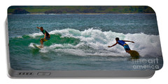 Portable Battery Charger featuring the photograph Tamarindo Surfing by Gary Keesler