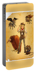Tammy And The California Gold Rush Portable Battery Charger by Reynold Jay