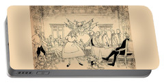 Portable Battery Charger featuring the drawing Tammy In Indpendence Hall by Reynold Jay