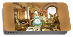 Portable Battery Charger featuring the painting Tammy Meets Mr. Scott by Reynold Jay