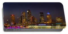 Tampa Lights At Dusk Portable Battery Charger