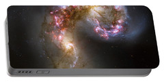 Tangled Galaxies Portable Battery Charger by Adam Romanowicz