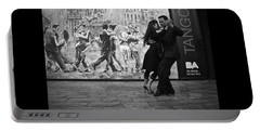 Tango Dancers In Buenos Aires Portable Battery Charger by Venetia Featherstone-Witty