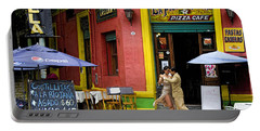 Tango Dancing In La Boca Portable Battery Charger by David Smith