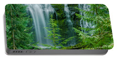 Pacific Northwest Waterfall Portable Battery Charger by Nick  Boren