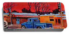 Taos Blue Truck At Dusk Portable Battery Charger