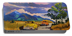 Taos Joy Ride With Yellow And Orange Trucks Portable Battery Charger