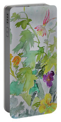 Portable Battery Charger featuring the painting Taos Spring by Beverley Harper Tinsley